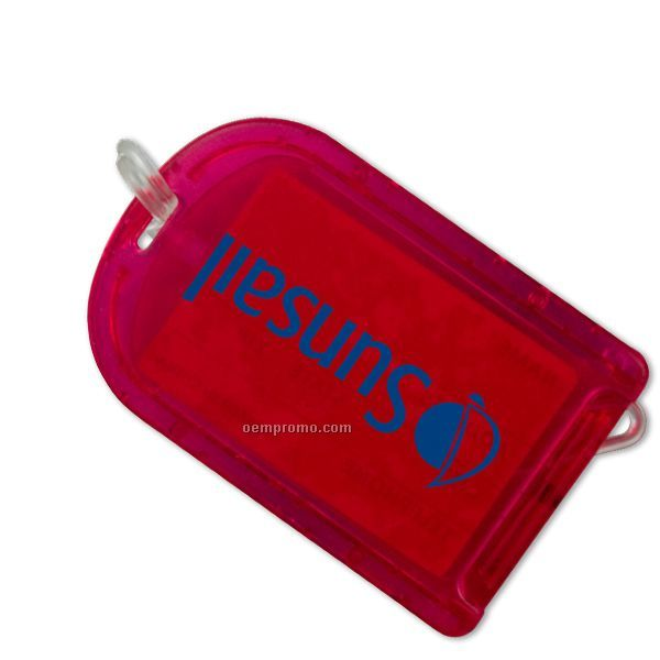 Snap Luggage Tag W/ Attached Strap