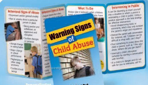 Warning Signs Of Child Abuse Pocket Pal