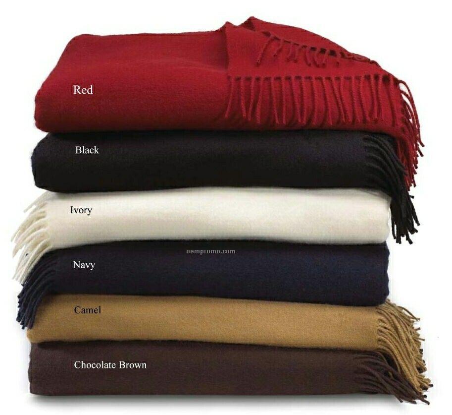 Wolfmark Chocolate Brown Merino Lambswool Blanket