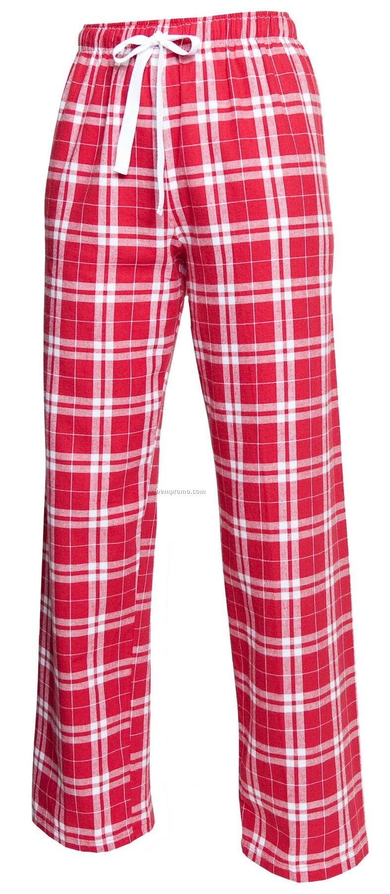 Adult Team Pride Flannel Pant In Cardinal Red & White Plaid