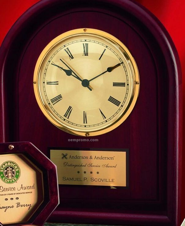 """Arched Cherry Wall Clock (15"""")"""