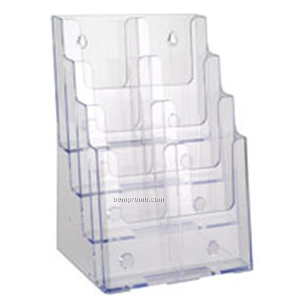 Four Tiered Convertible Brochure Holder W/Divider Trifold For 8 1/2''w X 11