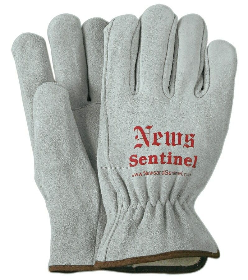 Unlined Suede Cowhide Leather Gloves (M-l)