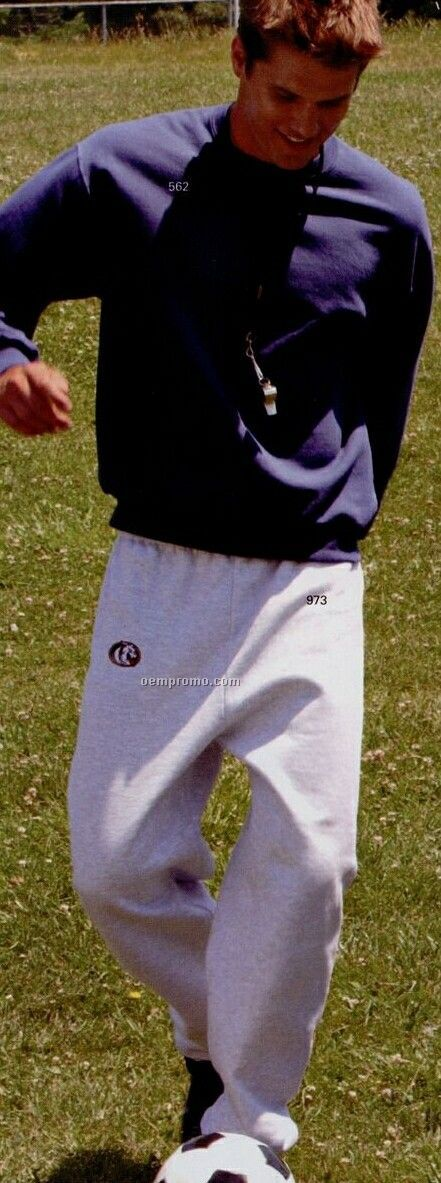White Jerzees Adult Mid-weight Sweatpants