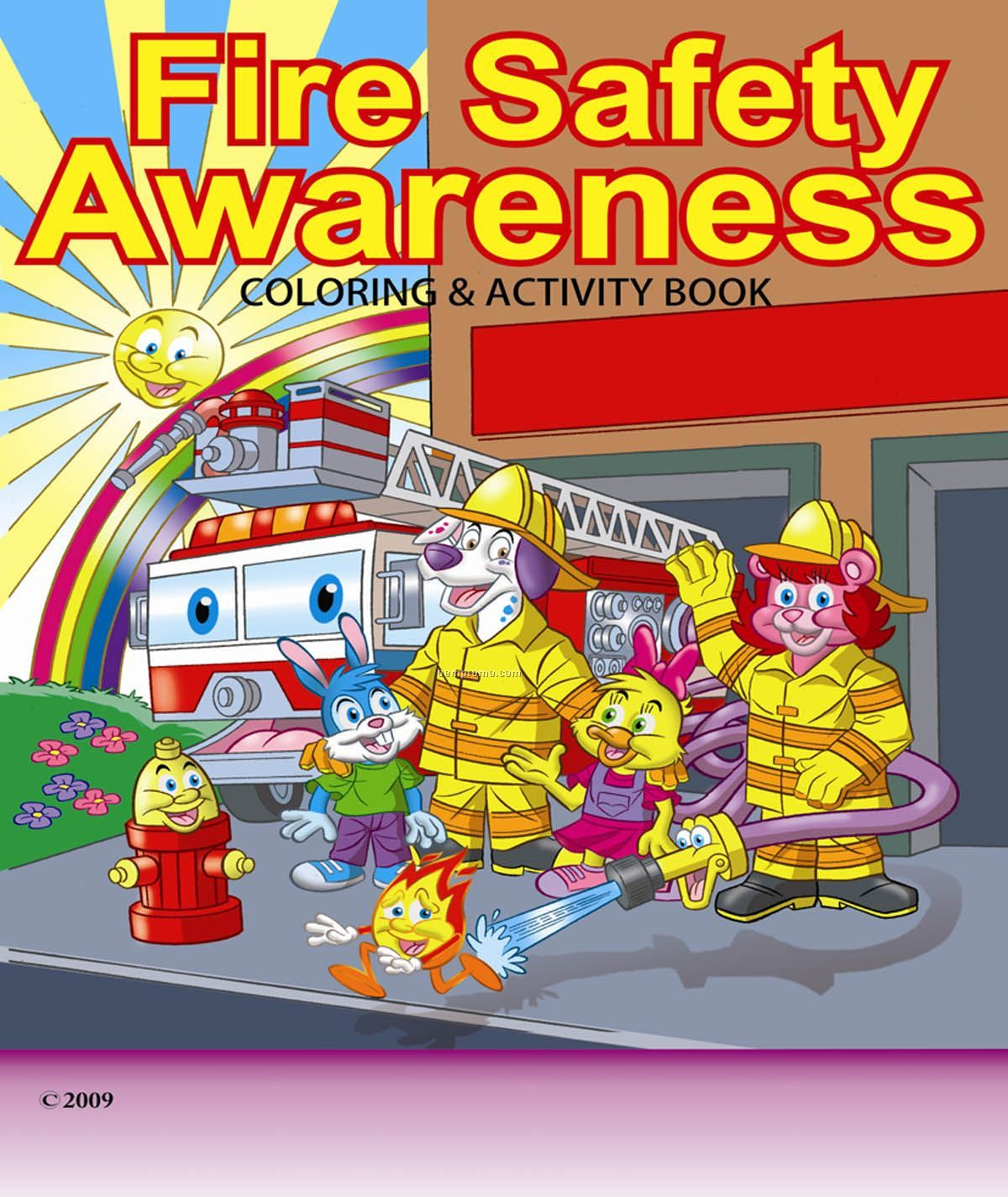 Fire Safety Awareness Children\'s Coloring And Activity Book,China ...