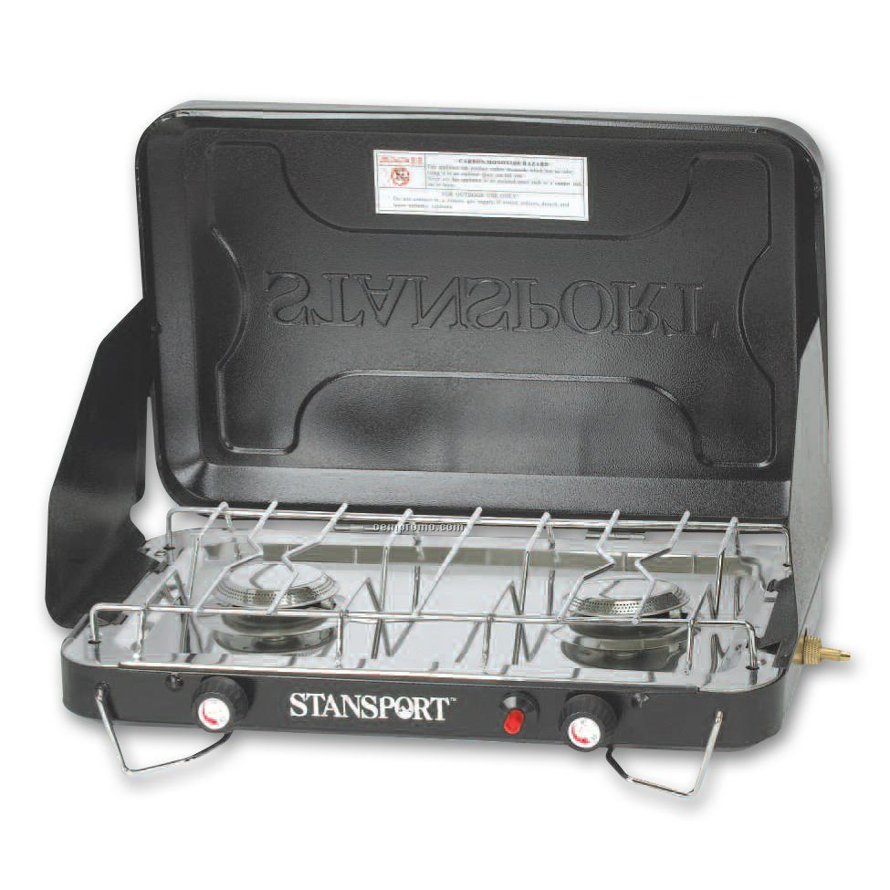 Stansport 2-burner Propane Stove W/Piezo