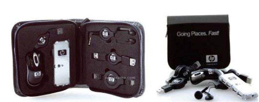 Travel USB Kit W/ Mini Optical Mouse & 4-port Hub
