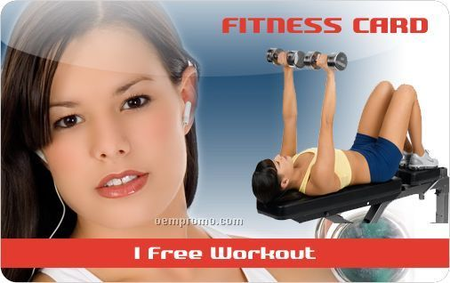 Workout Program Fitness Download Card Or Key Tag - 3 Workout