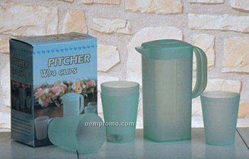 Acrylic Pitcher With Four Glasses Set
