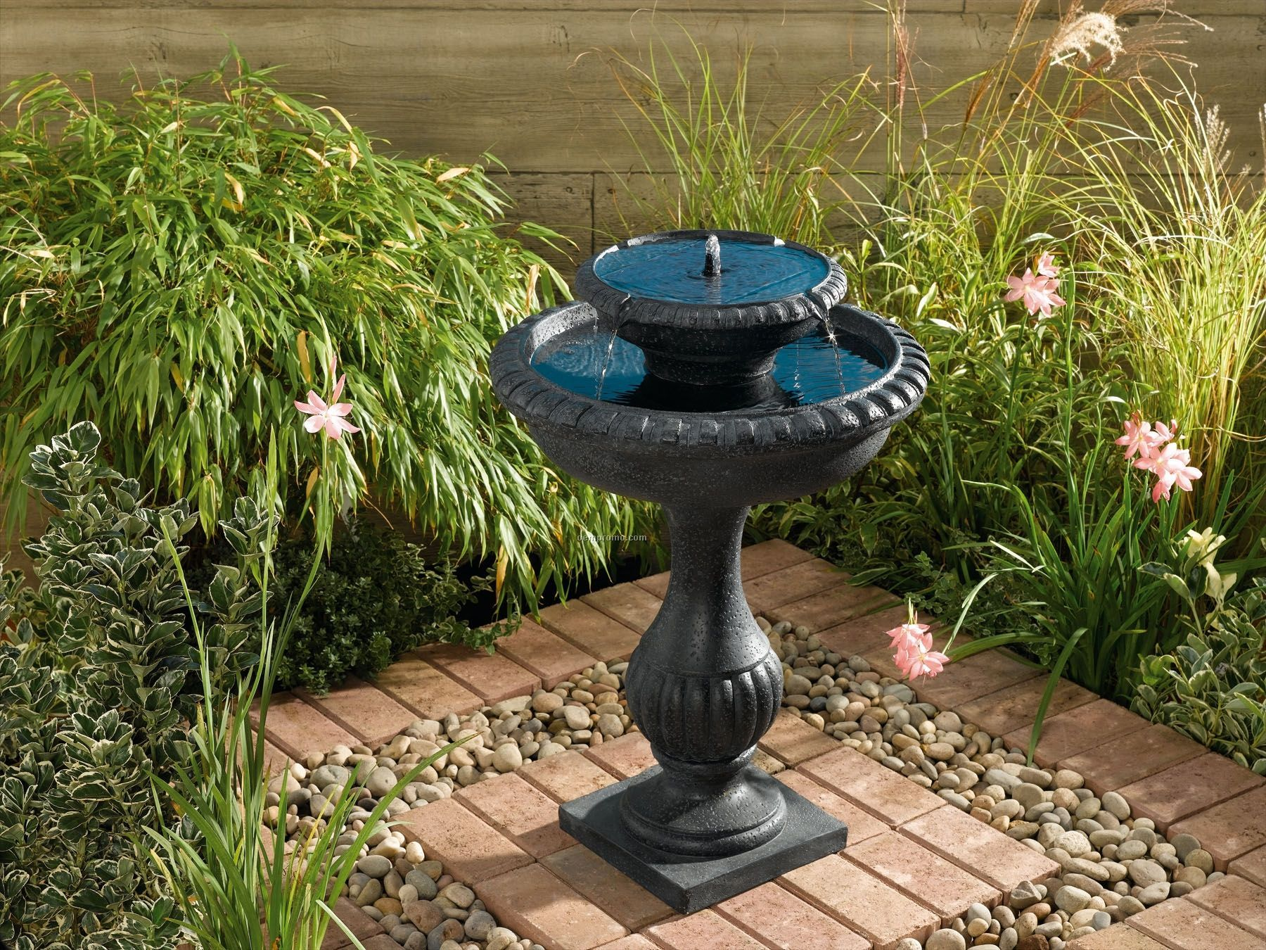 Smart Solar Blenheim Two-tier Solar Fountain