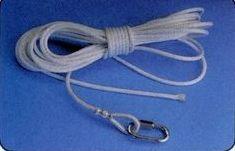 Black Polypropylene Rope Assembly For 40' Pole