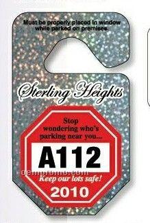 "Octagon Hang Tag Parking Permit (0.015"" Polyethylene)"