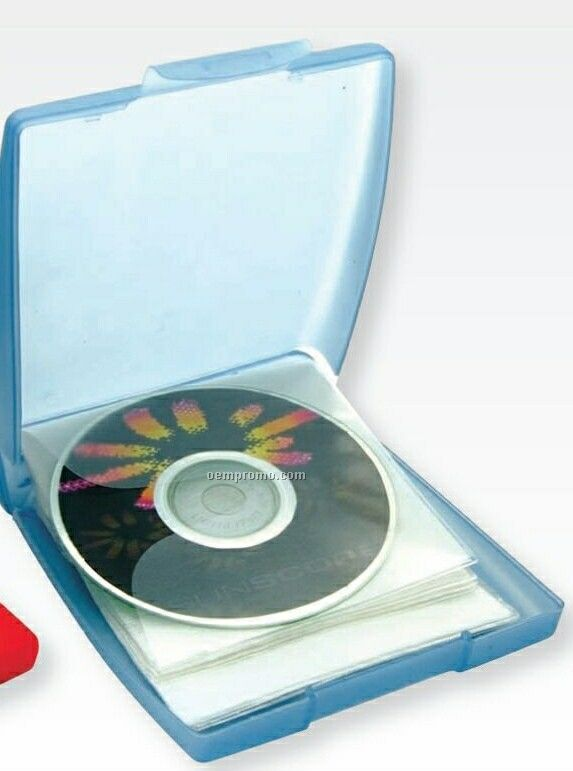 Square Translucent CD Case W/ Snap Closure