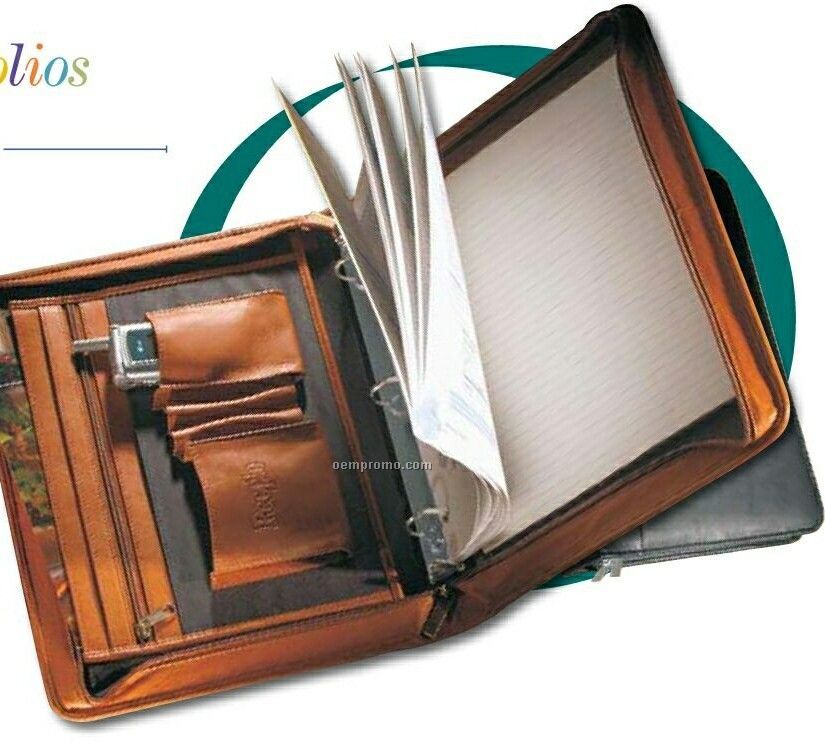"Vaqueta Napa Leather 1"" 3-ring Binder,China Wholesale"