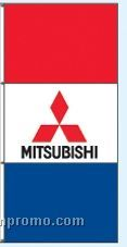 Double Face Dealer Free Flying Drape Flags - Mitsubishi