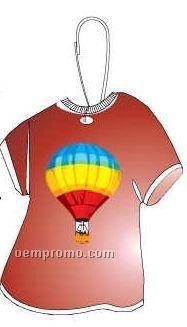 Hot Air Balloon T-shirt Zipper Pull