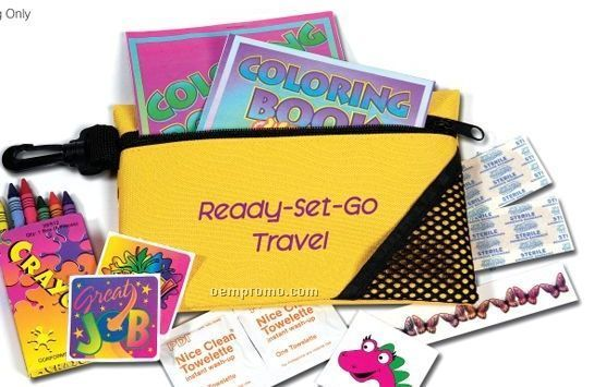 Kids Travel Kit With Stickers & Coloring Book