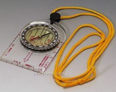 Map Compass W/ Acrylic Ruler