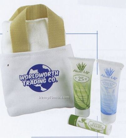 Mini Canvas Bag W/ Towel & Original Selection Products
