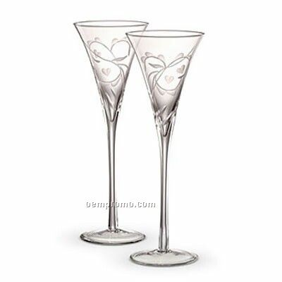 Waterford 128761 Crystal Your's Truly Flute Pair