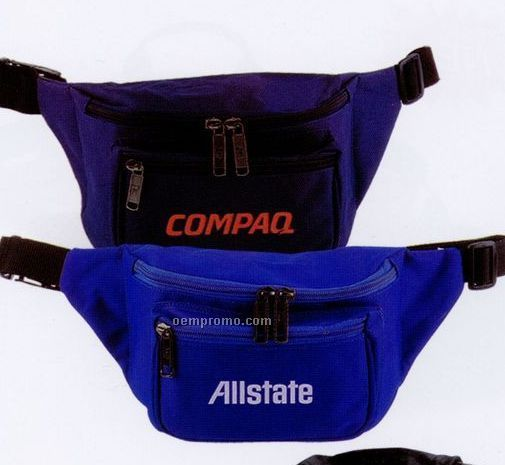 Fanny Pack With 3 Zipper Compartments & Piping Trim