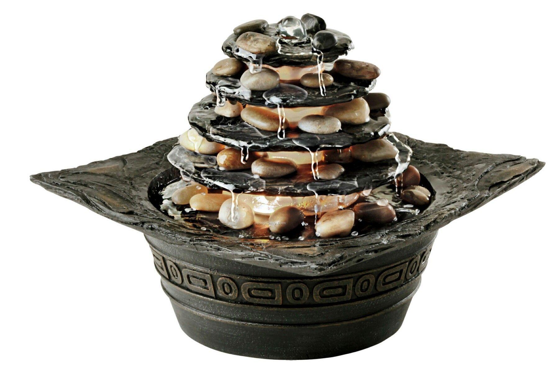 Homedics Envirascape Natural Pagoda Illuminated Relaxation Fountain