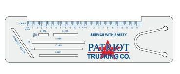 Trucker Logbook Ruler (Bookmark)