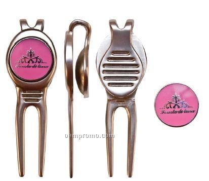 Brass Core Golf Divot Tool & Marker (Economy)