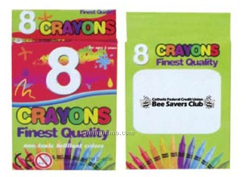 Kid`s 8 Crayon Pack