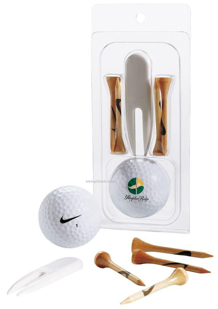 Nike Ndx Turbo Golf Ball (2011) - 1 Ball Pack W/ 4 Tees & Divot Tool