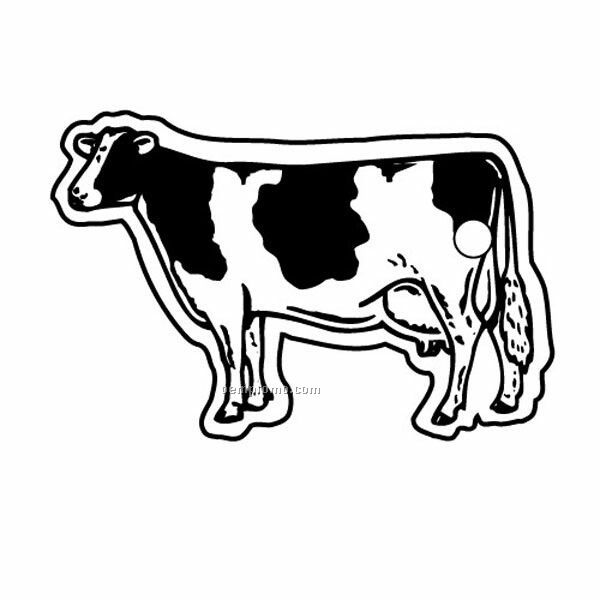 Stock Shape Collection Cartoon Cow Key Tag