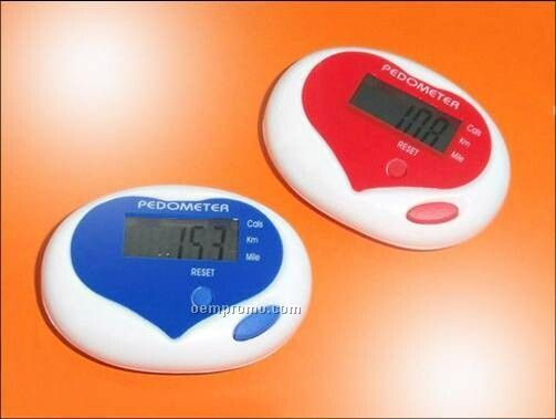 Sweetheart Pedometer With Heart-shape Accent