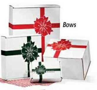 """11-1/2""""X10-1/2""""X7-1/2"""" A Traditional Holiday Favorite Red Bows"""
