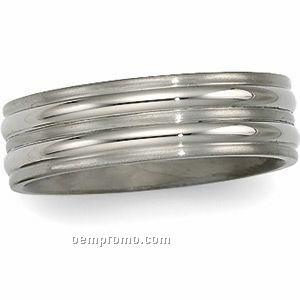 7mm Men's Titanium Comfort Fit Wedding Band Ring (Size 11)