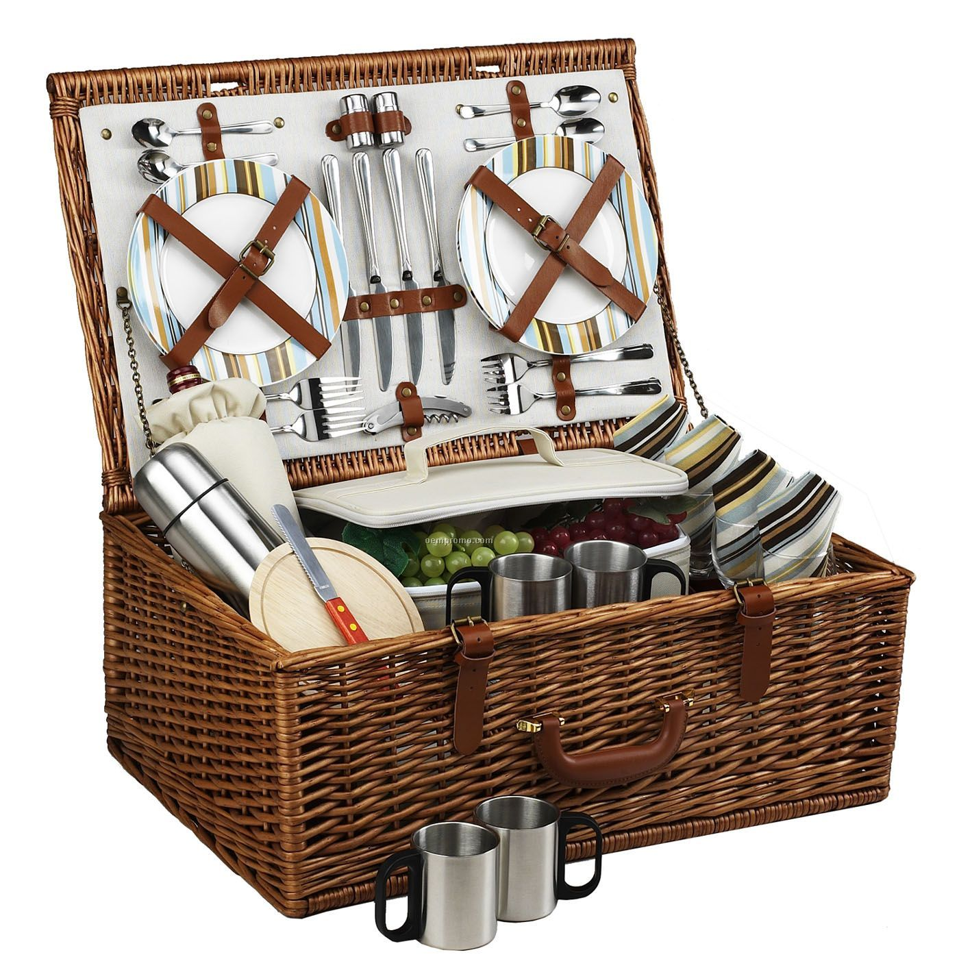 Cheap Picnic Basket For 4 : Dorset picnic basket for four with coffee set china