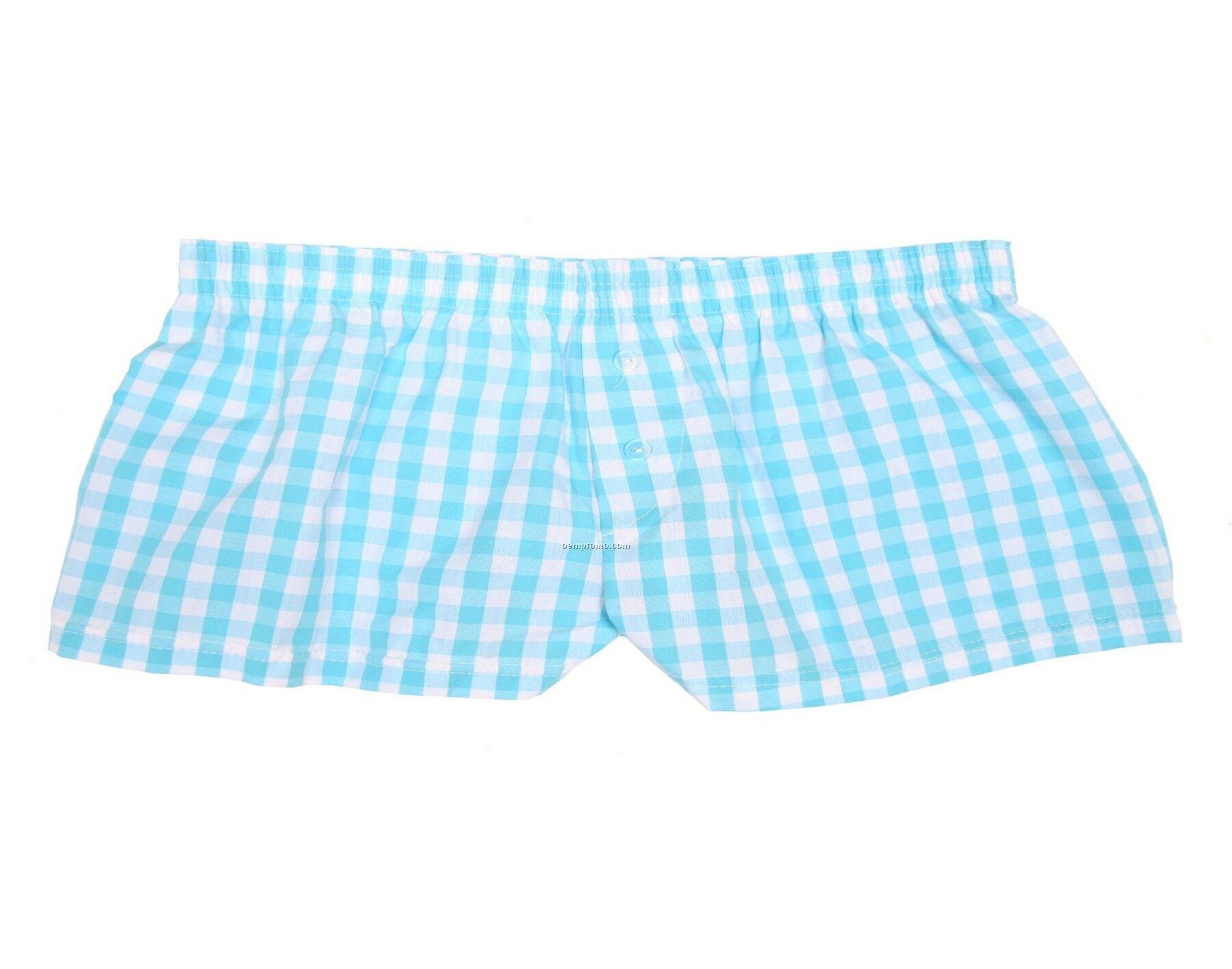 Ladies' Poolside Blue Bitty Boxer Short