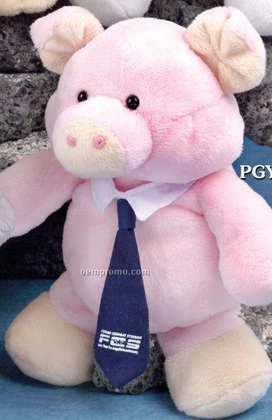 Pudgy Plush Stuffed Pink Piggy