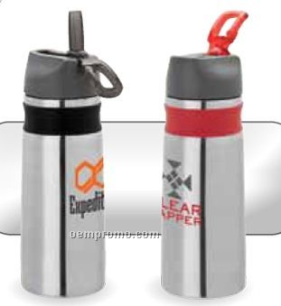 26 Oz. 18/8 Stainless Steel Water Bottle W/ Silicone Sleeve