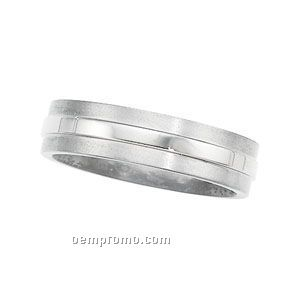 6mm Ladies' Titanium Comfort Fit Wedding Band Ring (Size 7)