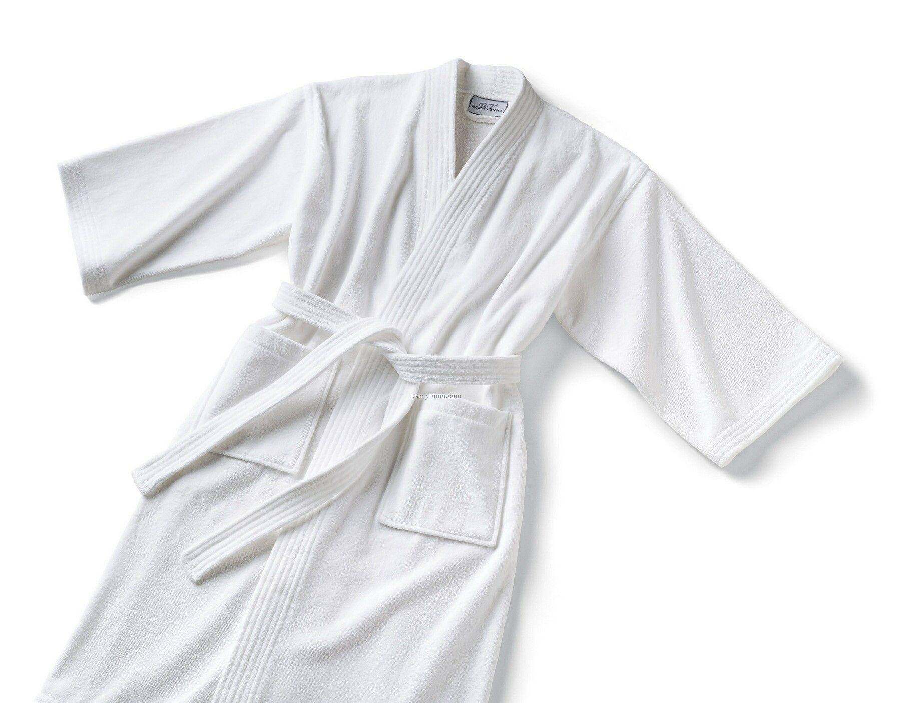 Basic Kimono Waffle Robe (Cotton/Poly Blend)