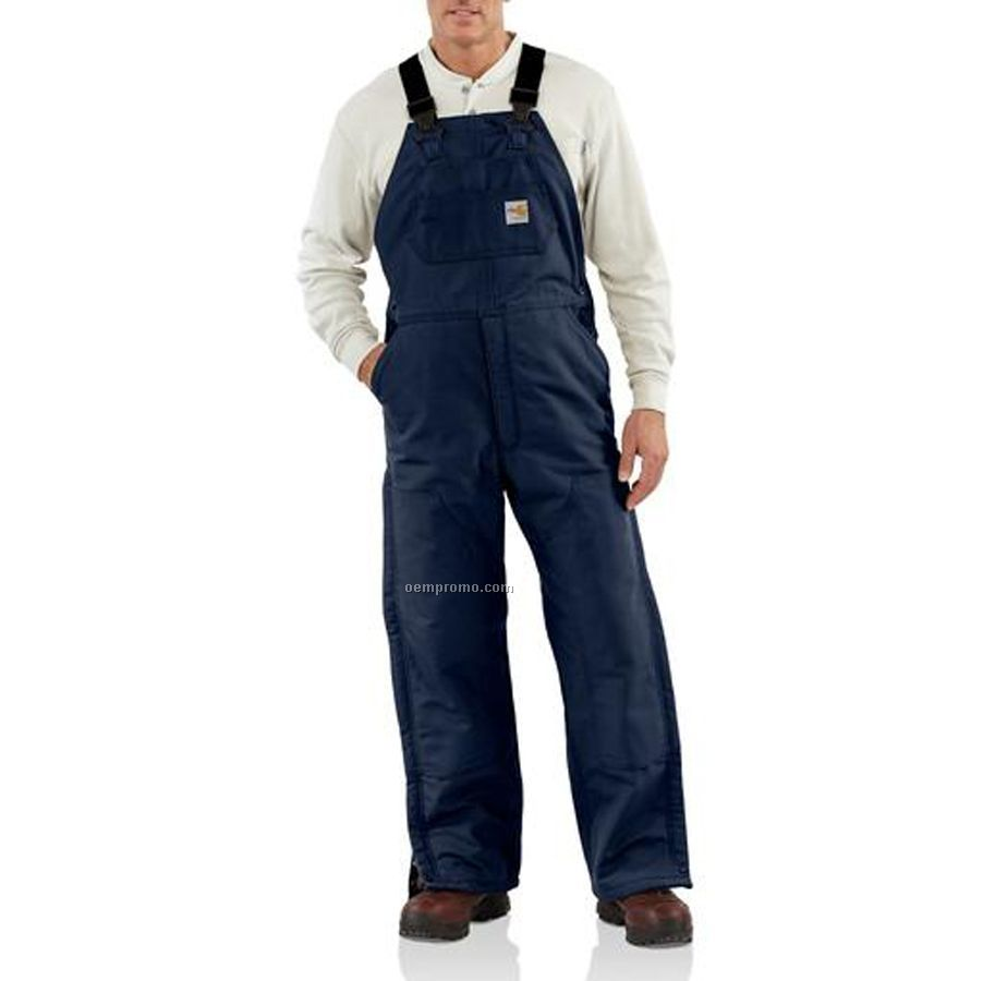 Carhartt Flame Resistant Duck Bib Quilt Lined Overall