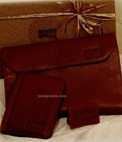 Gift Set W/ Portfolio/ Business Card Holder & Meeting Folder