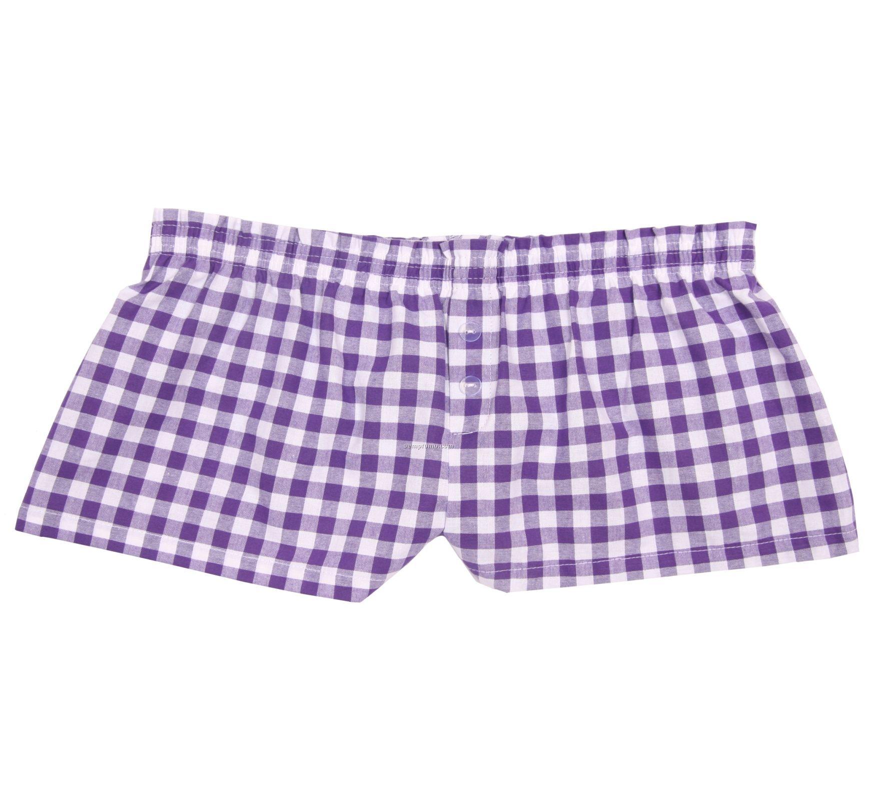 Ladies' Purple Punch Cotton Bitty Boxer Short