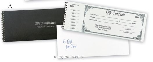 Single Gift Certificate Books