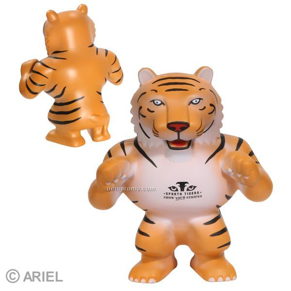 Tiger Mascot Squeeze Toy