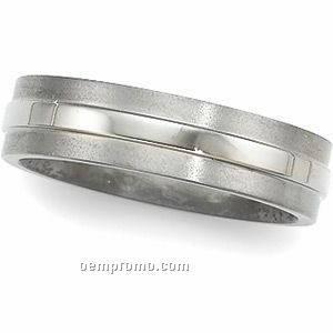 6mm Men's Titanium Comfort Fit Wedding Band Ring (Size 11)