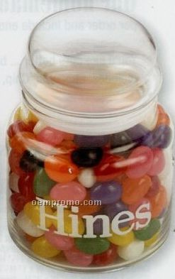 Custom Large Apothecary Jar W/ Deluxe Mixed Nuts (No Peanuts)