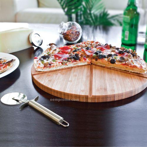 Gourmet Bamboo Pizza Set / Cutting Board