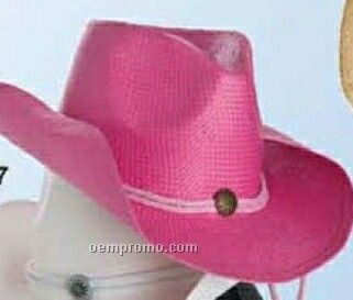 Straw U Shape It Western Hat W/ Inside Stretch Band In Colors
