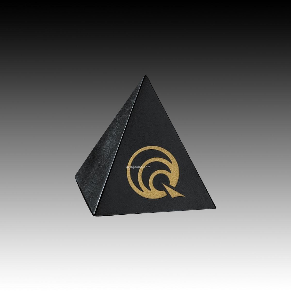 "5"" Black Genuine Marble Pyramid Award"